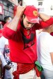 Pamplona Navarra Spanje 12 Juli de fiesta van 2015 S Firmino jonge ma Stock Foto's