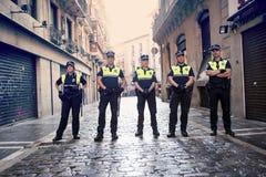 Pamplona Navarra Spanje 12 Juli het einde van de de fiestapolitie van 2015 S Firmino Royalty-vrije Stock Fotografie