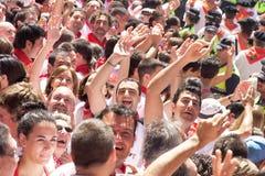 PAMPLONA, SPAIN -JULY 6 Royalty Free Stock Image