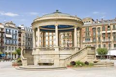 Pamplona, Spain. Plaza del Castillo in Pamplona, Spain Royalty Free Stock Photo