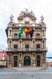Pamplona urząd miasta fotografia stock