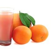Pamplumossa, laranja e suco. Imagem de Stock