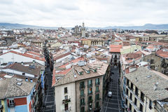 Pampona from the top Royalty Free Stock Photo