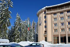 PAMPOROVO, BULGARIEN - 11. MÄRZ 2015: Hotel Orpheus Stockfoto