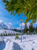 Pamporovo Ski Slope, Bulgarie image libre de droits