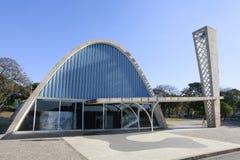 Pampulha kyrka i Belo Horizonte, Brasilien Royaltyfria Foton