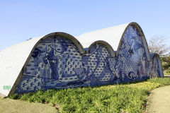 Pampulha kyrka i Belo Horizonte, Brasilien Arkivfoto