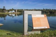 Pampulhas lake - São Francisco de Assis church Royalty Free Stock Images