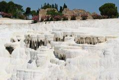 Pamukale,自然公园在土耳其 库存照片