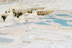 Pamukale,自然公园在土耳其 库存图片
