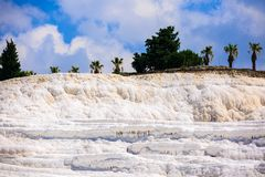 Pamukale cotton castle in Turkish with nice sky beautiful place Royalty Free Stock Photography