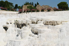Pamukale naturalny park w Turcja Zdjęcie Stock