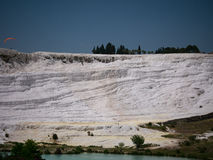 Pamukale, Turkey - May 14, 2017: Landscape of pamukkale mountain Stock Images