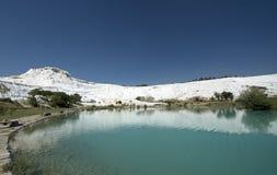 Pamukkale温泉,旅行向土耳其 库存照片