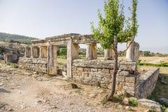 Pamukkale, Τουρκία Η πρόσοψη του τάφου στη νεκρόπολη Hierapolis Στοκ Εικόνα