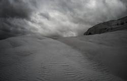 Pamukkale, Τουρκία με calcite το τοπίο, γραπτό Στοκ Εικόνα