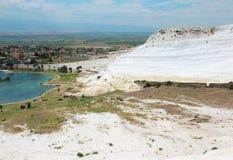 Pamukkale - замок хлопка, провинция Denizli в юго-западном турке стоковое фото rf