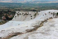 Pamukkale - замок хлопка, провинция Denizli в юго-западном турке стоковая фотография rf