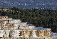 Pamukkale (замок хлопка) Турции Стоковое Изображение