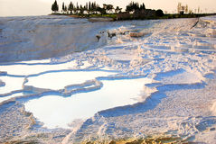 Pamukkale. The travertines of Pamukkale, in central Turkey, are formed by calcium-rich mineral water Royalty Free Stock Images