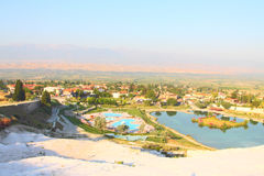 Pamukkale. Valley view from the top of Pamukkale Stock Image