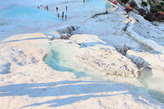 Pamukkale. Valley view from the top of Pamukkale Royalty Free Stock Photos
