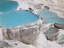 Бассейны Pamukkale Стоковая Фотография RF