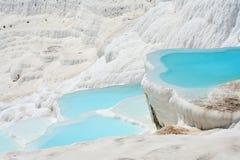 Pamukkale basins. Natural Pamukkale basins full of water Stock Images