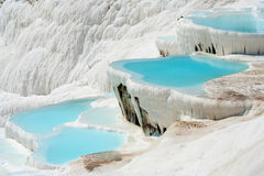 Pamukkale basins. Natural Pamukkale basins full of water