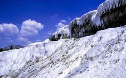 Pamukkale bielu krajobraz Turcja Obrazy Stock