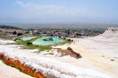 Pamukkale bomullsslott, Denizli, Turkiet fotografering för bildbyråer