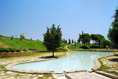 Pamukkale - Cleopatra's pool. Queen Cleopatra's pool at the UNESCO site of Hierapolis/Pamukkale, south-west Turkey Stock Image