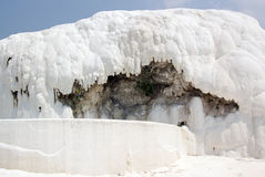 Pamukkale: detail of calcium deposit Stock Photography