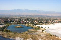 Pamukkale, die Türkei Stockbilder