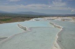 Pamukkale est un site de patrimoine mondial naturel de l'UNESCO photos stock