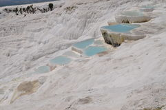 Pamukkale geothermal sources in Turkey under the name cotton fortress Stock Images