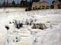 Pamukkale, heiße Frühlinge und Travertine in der Türkei Lizenzfreies Stockbild