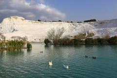Pamukkale het Witte Katoenen Kasteel Stock Foto's