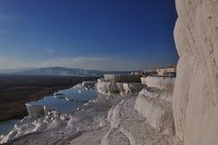 Pamukkale, Hierapolis, Denizli, die Türkei 2017 Stockbilder