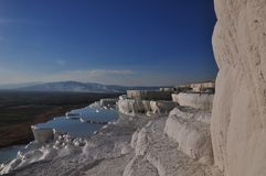 Pamukkale, Hierapolis, Denizli, Turcja 2017 Obrazy Stock