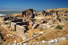 Pamukkale - Hierapolis - Martyrion Fotografia de Stock Royalty Free