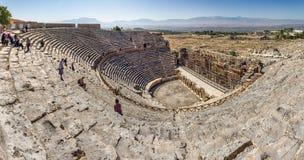 Pamukkale - Hierapolis theatre Stock Images
