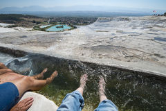 Pamukkale Hot Springs, Travel to Turkey Royalty Free Stock Photo