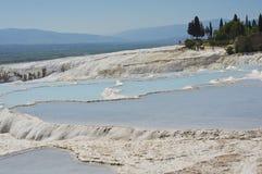 Pamukkale krajobraz Zdjęcie Royalty Free
