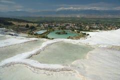 Pamukkale krajobrazu _Turcja Zdjęcie Stock