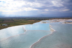 Pamukkale landscape at evening Stock Photos