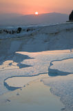 Pamukkale limestone pools. Stock Images