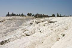 Pamukkale limestone pools Stock Photo