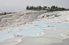 Pamukkale Limestone Pools Royalty Free Stock Photos