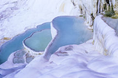 Pamukkale Limestone Terraces in Turkey Stock Images